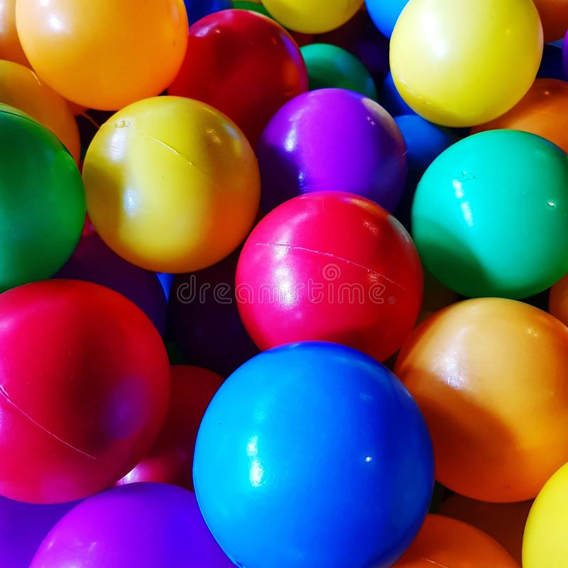 Group of colorful balls for kid royalty free stock photos