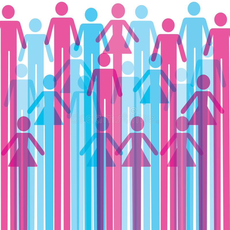 Download Group Of Colorful Male And Female Icon Background Stock Vector - Image: 28331703