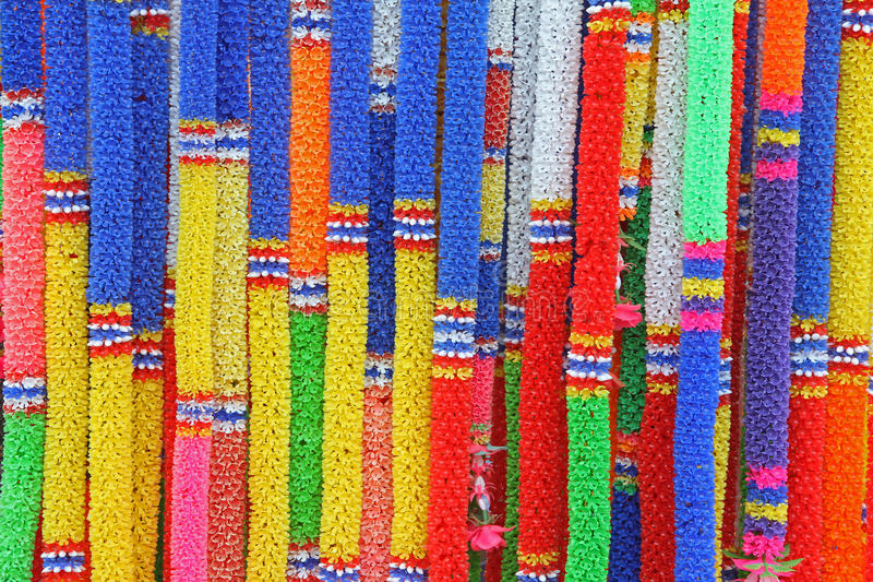 Download Group Of Colorful Thai Plastic Garland Stock Image - Image: 22059215
