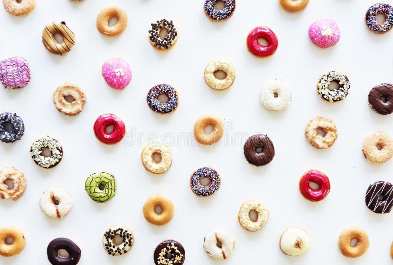 Group of Colourful Doughnut Bakery Sweet Dessert royalty free stock photos