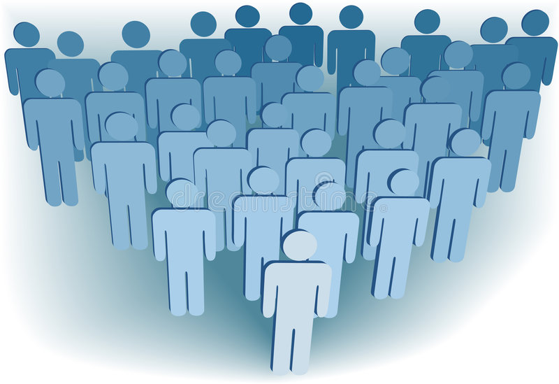 Group company population of 3D symbol people royalty free illustration