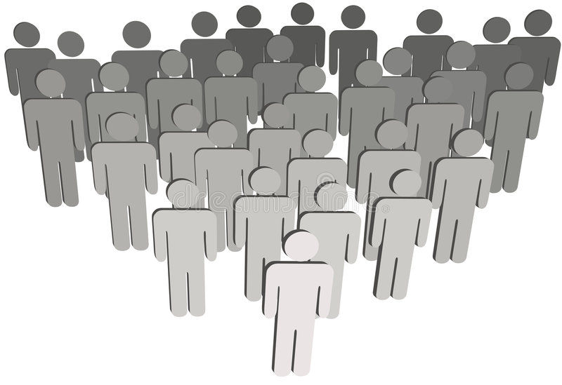 Group company population 3D symbol people on white royalty free illustration