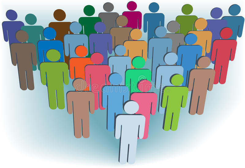 Download Group Company Or Population Symbol People Colors Stock Vector - Image: 15415286