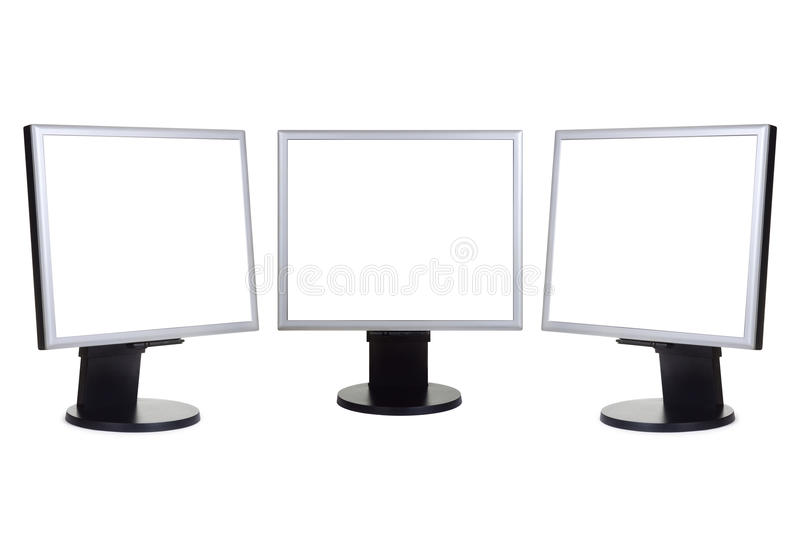 Download Group of computer monitors stock image. Image of panorama - 13281099