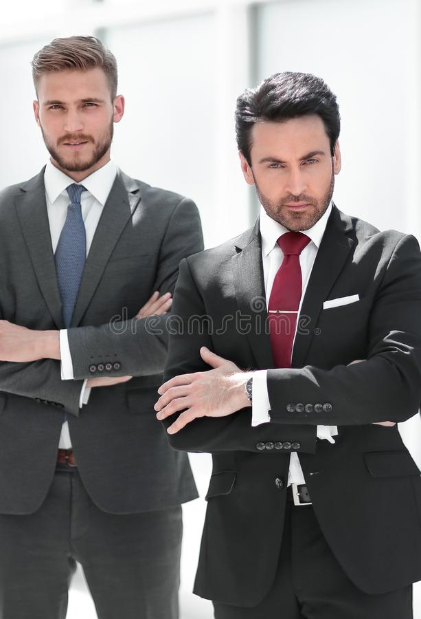 Group of confident business people standing togethe royalty free stock photos