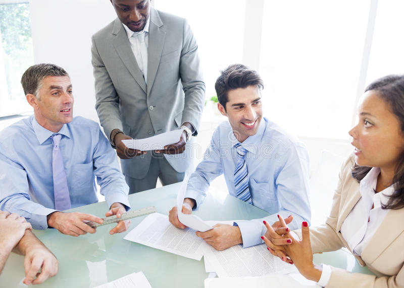 Group of Corporate People Having a Business Conversation.  royalty free stock photography