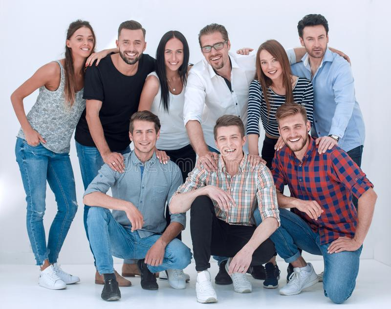 Group of creative young people. stock image