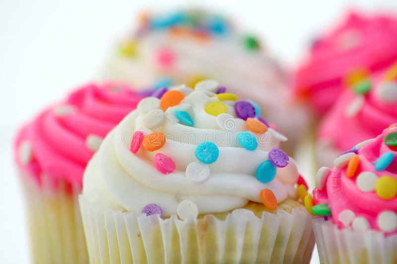 Group of Cup Cakes royalty free stock images