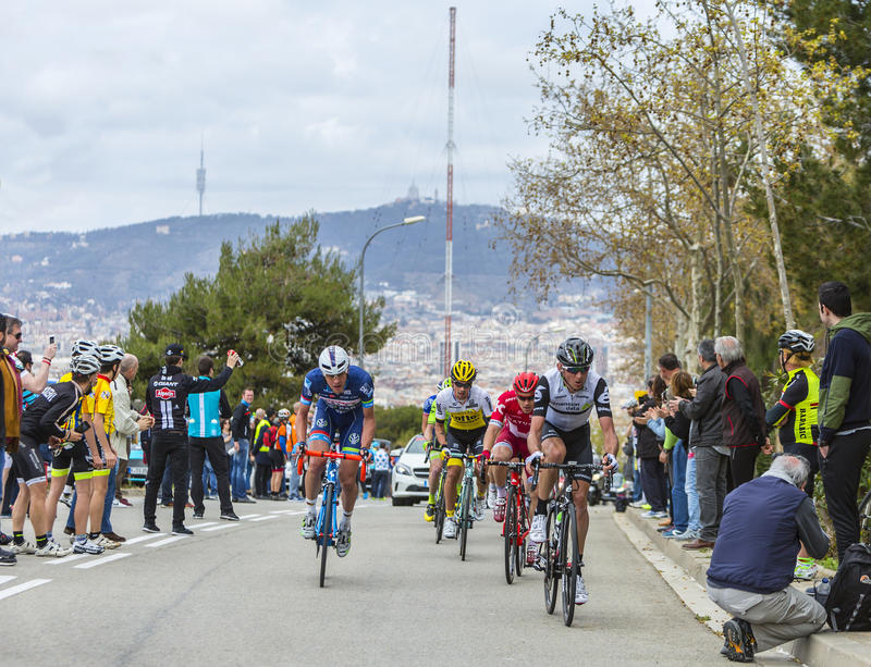 Group of Cyclists - Tour de Catalunya 2016 royalty free stock photo