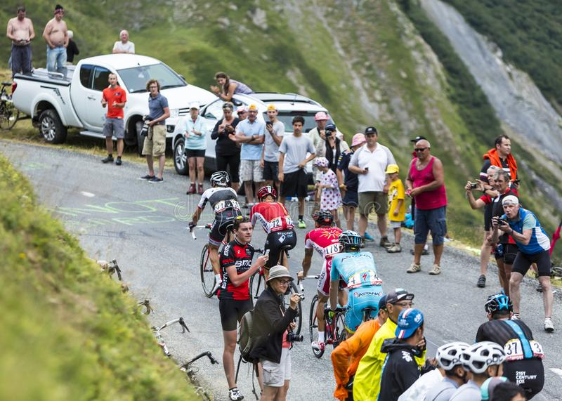 Group of Cyclists - Tour de France 2015 royalty free stock photography