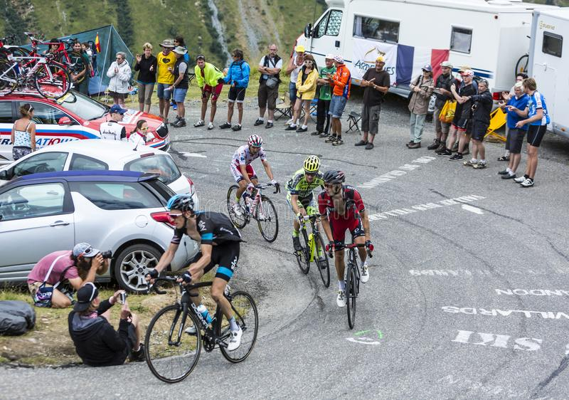 Group of Cyclists - Tour de France 2015 royalty free stock photo