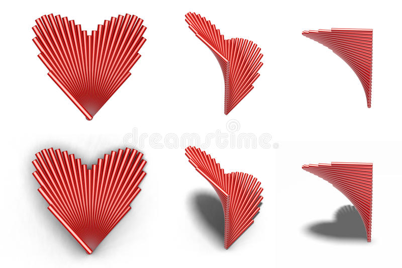 Download A Group Of Cylinder Composition Heart Shape Stock Illustration - Image: 22703832