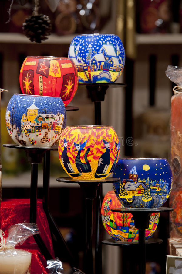 Download Group Of Decorated Candle-holders Stock Image - Image: 26880011