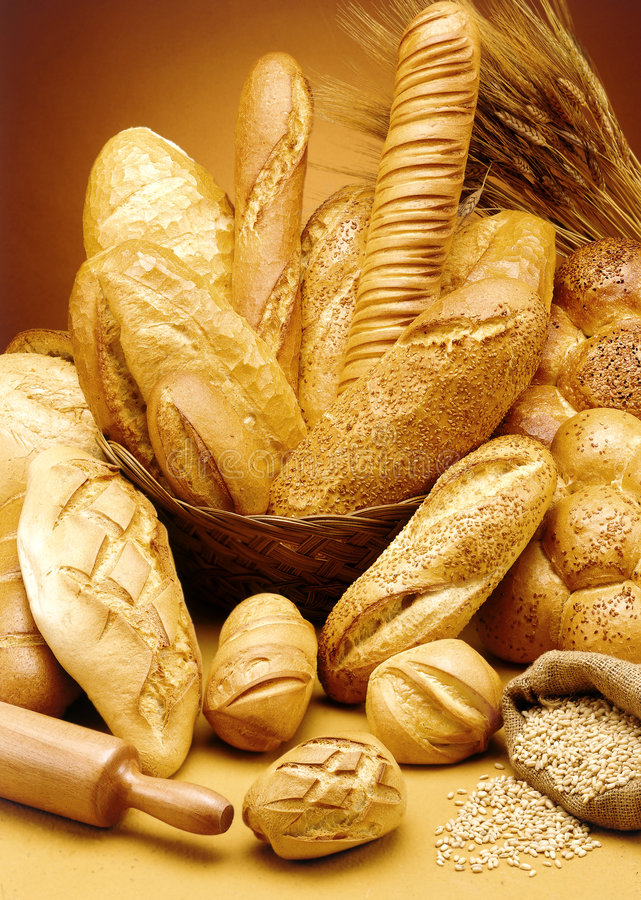 Group of delicious bread royalty free stock photo