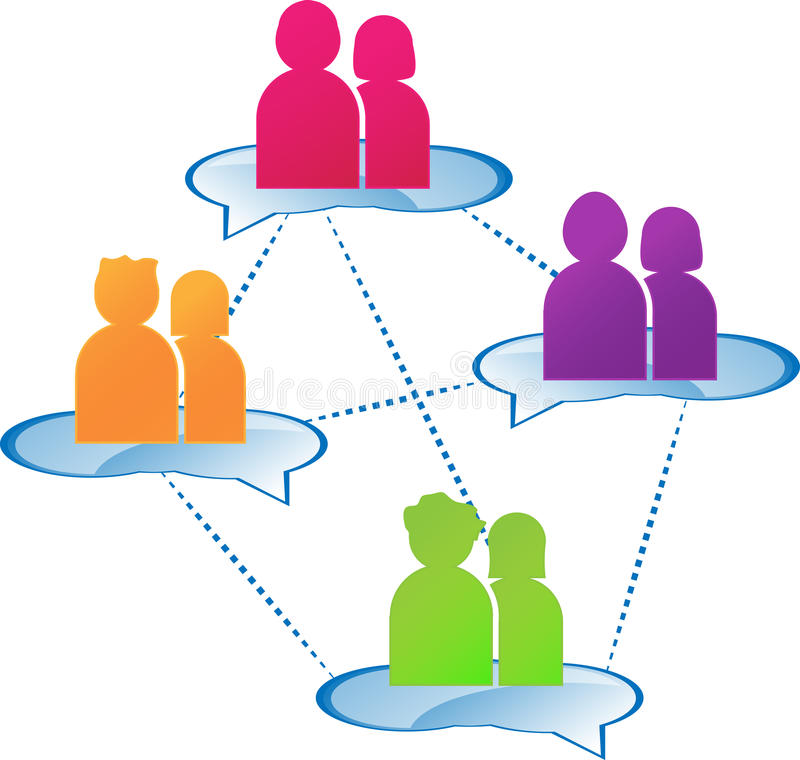Group dialogue stock illustration