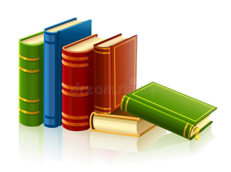 Download Group Of Different Books With Empty Cover Stock Illustration - Illustration: 13754031