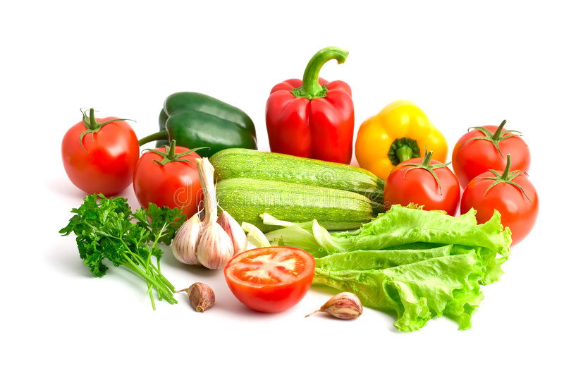 A group of different fresh vegetables royalty free stock photography