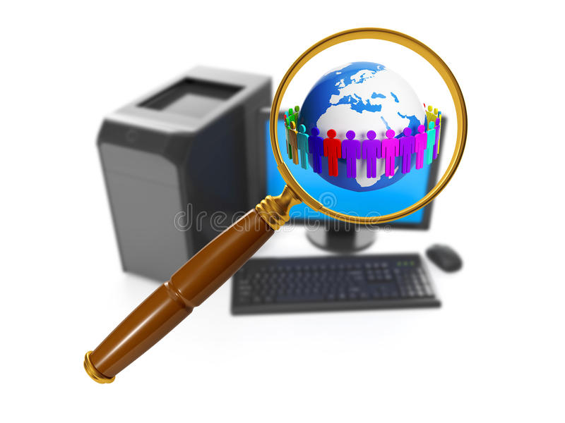 Download Group Of Different People Around Stock Illustration - Image: 28406900