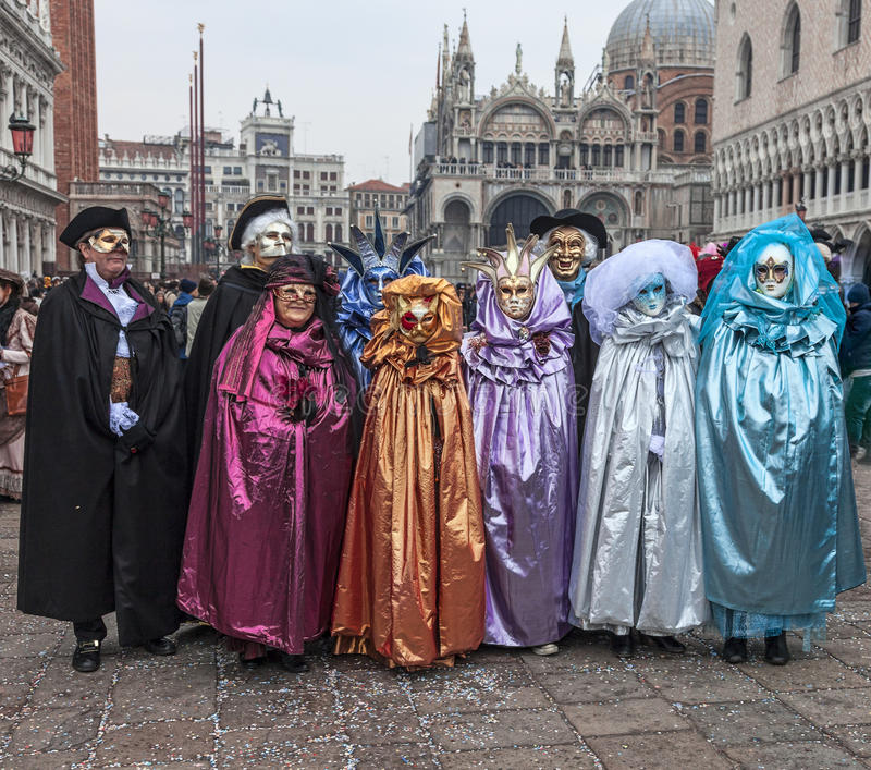 Group Of Disguised People Editorial Stock Image