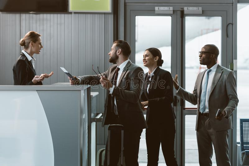 group of dissatisfacted businesspeople having argument royalty free stock photography