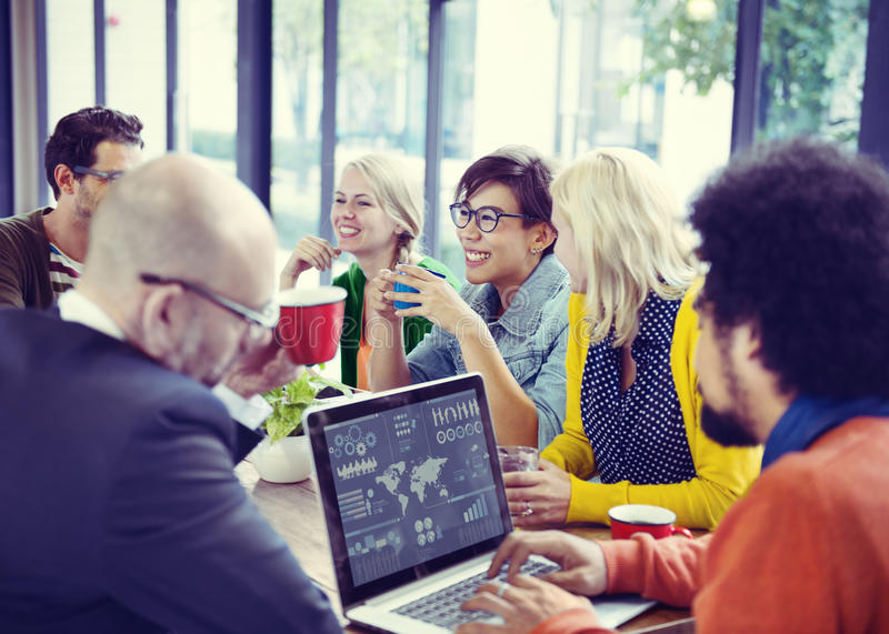 Group of Diverse Cheerful Business People stock image