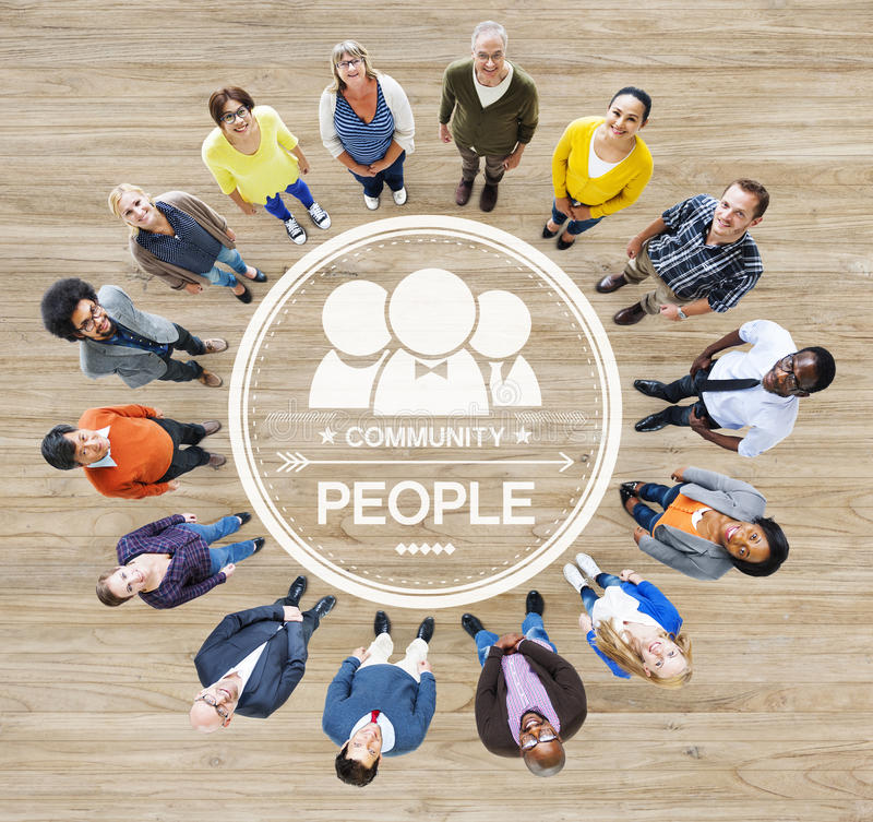 Group of Diverse Multiethnic People Forming a Circle.  stock photos