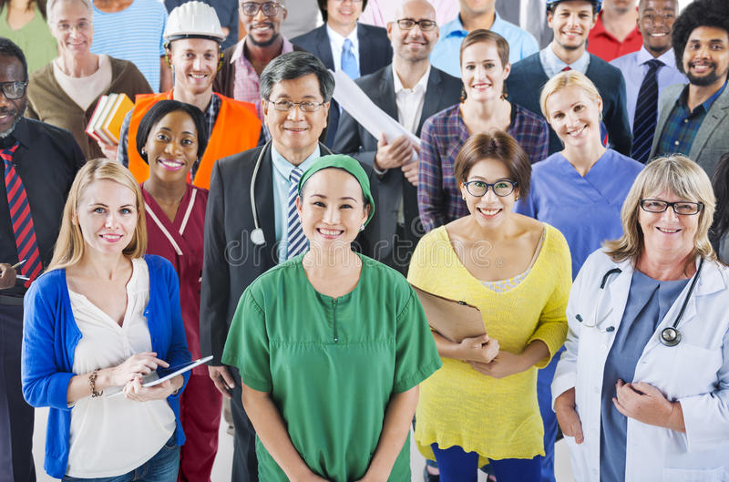 Group of Diverse People with Different Occupations royalty free stock photography