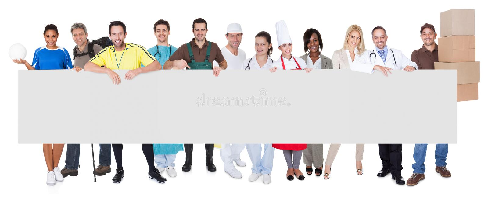 Group of diverse professionals stock photos