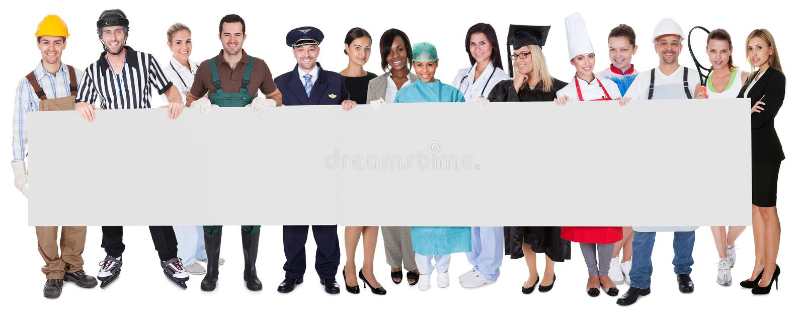 Group of diverse professionals stock photography