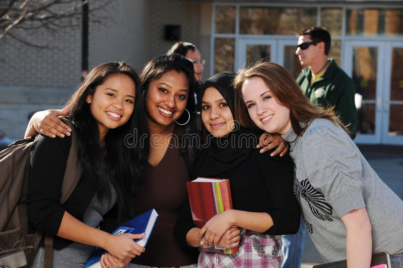 Group of Diverse Students stock image