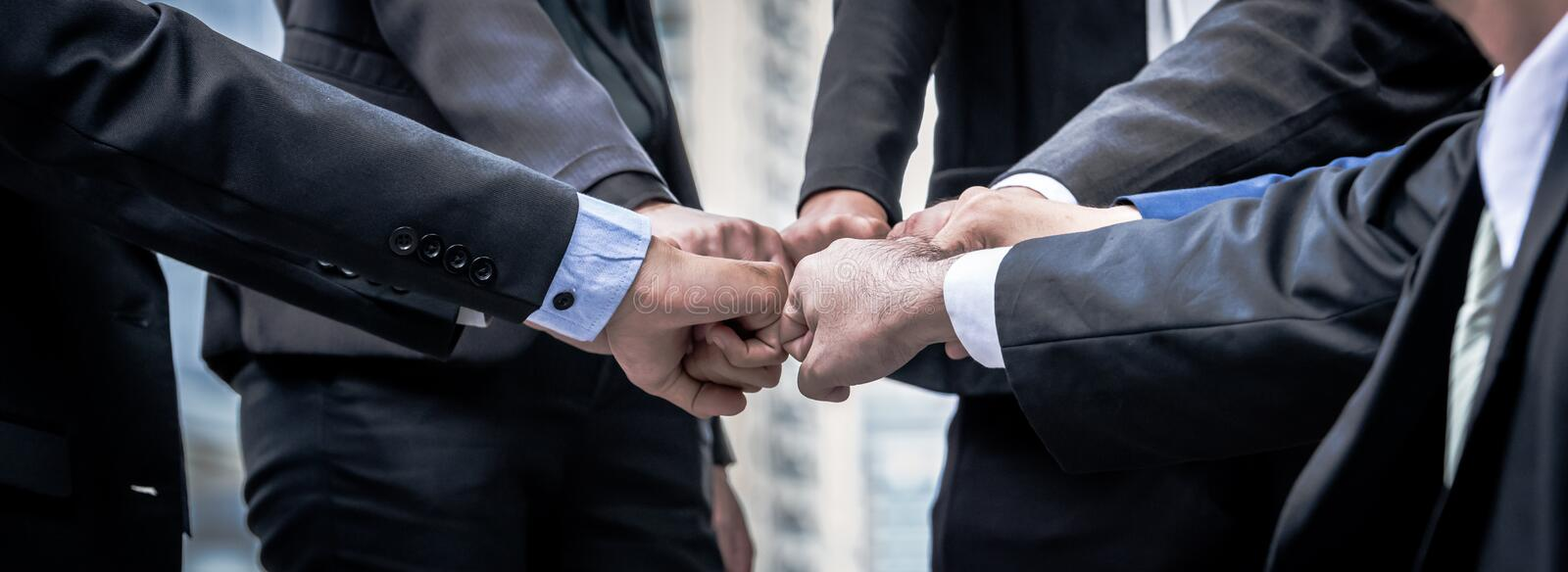 Business teamwork trust in partner. Teamwork Concept. royalty free stock photography