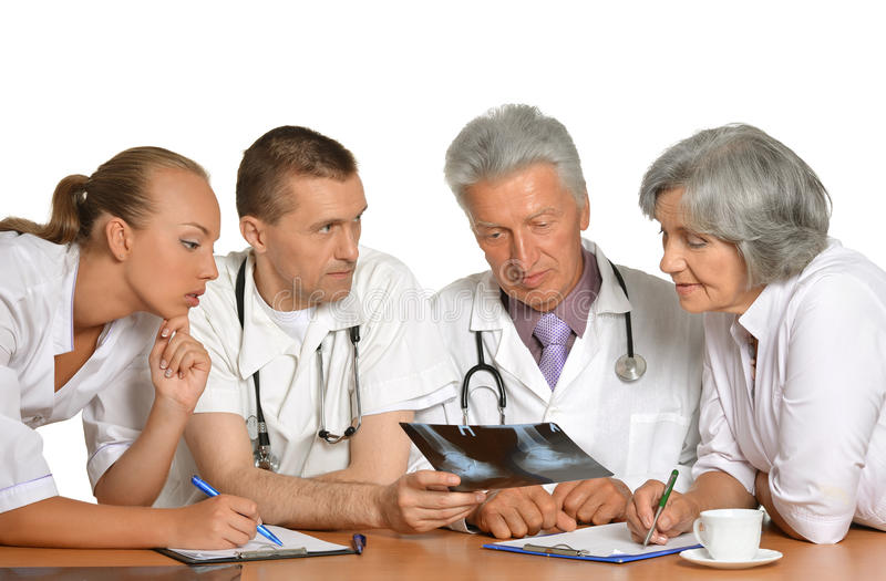 Group of doctors on meting royalty free stock images