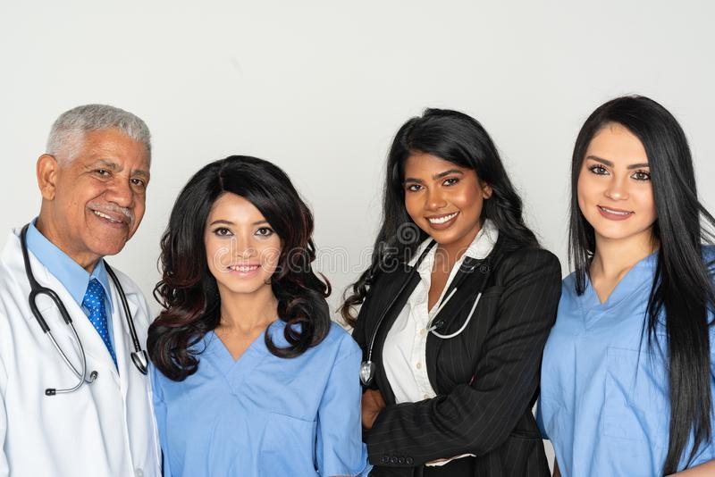 Group of Doctors and Nurses with a Diverse Racial Background stock photos