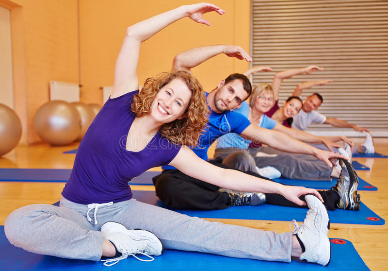 Download Group Doing Stretching Exercises Stock Photo - Image: 27832684