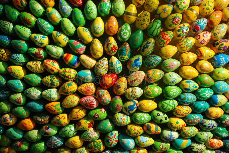 Group of Easter eggs like beam royalty free stock photography