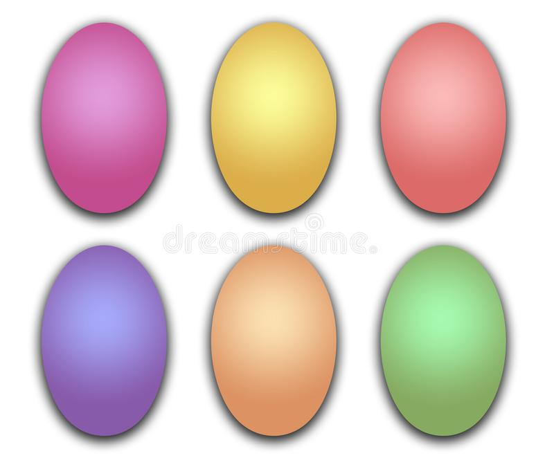 Group of Easter Eggs Read to Decorate stock photography