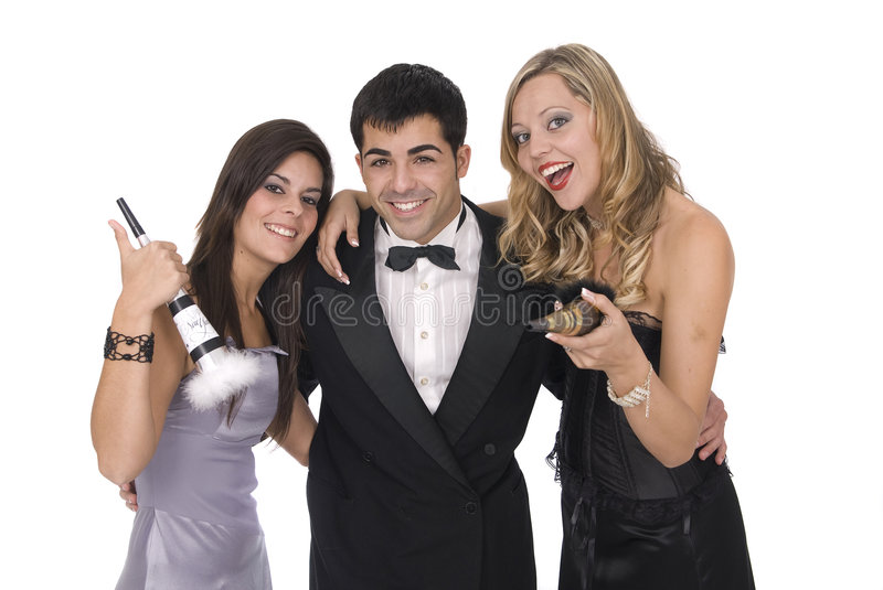 Download Group Of Elegants Friends At A New Year Party Stock Image - Image: 7442677
