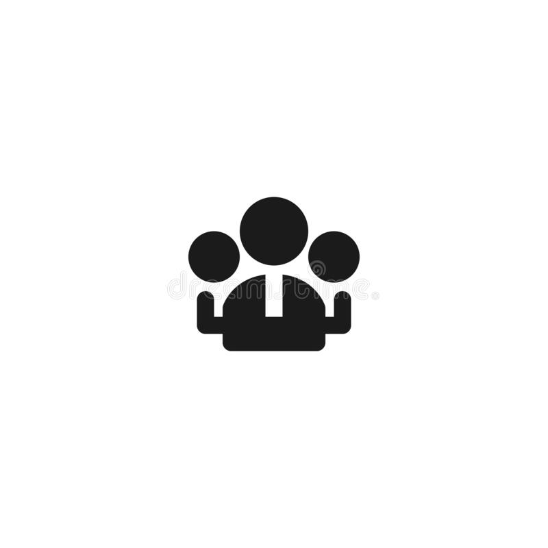 Group of employee icon design. workers community symbol. simple clean professional business management concept vector illustration. Design. eps 10 stock illustration