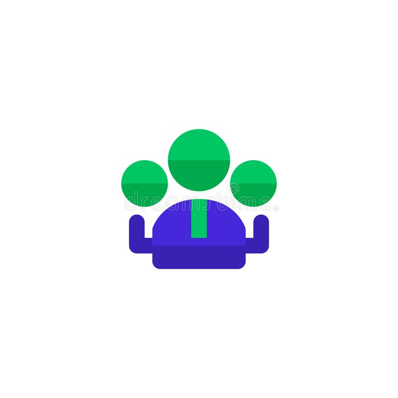 Group of employee icon design. workers community symbol. simple clean professional business management concept vector illustration. Design. eps 10 royalty free illustration