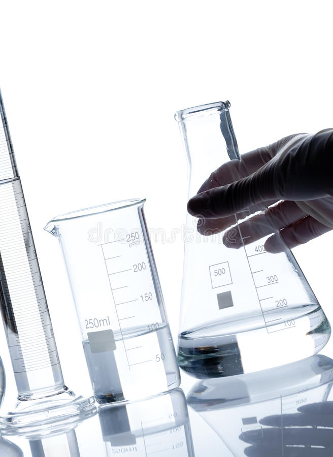 Download Group Of Empty Laboratory Flasks Stock Photo - Image: 26000864