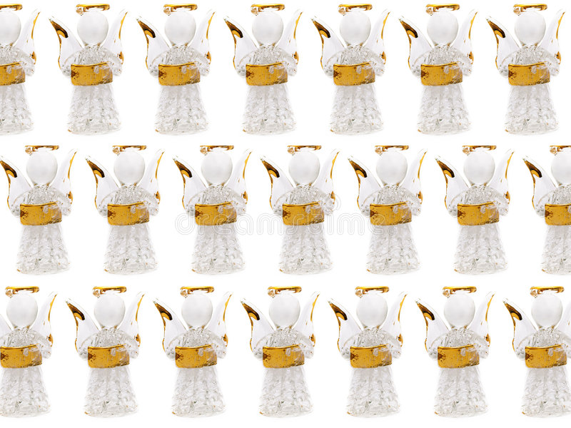 Group figurine Christmas angels royalty free stock images