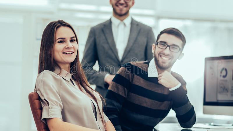 group of financial experts work with financial reports at the w stock photo