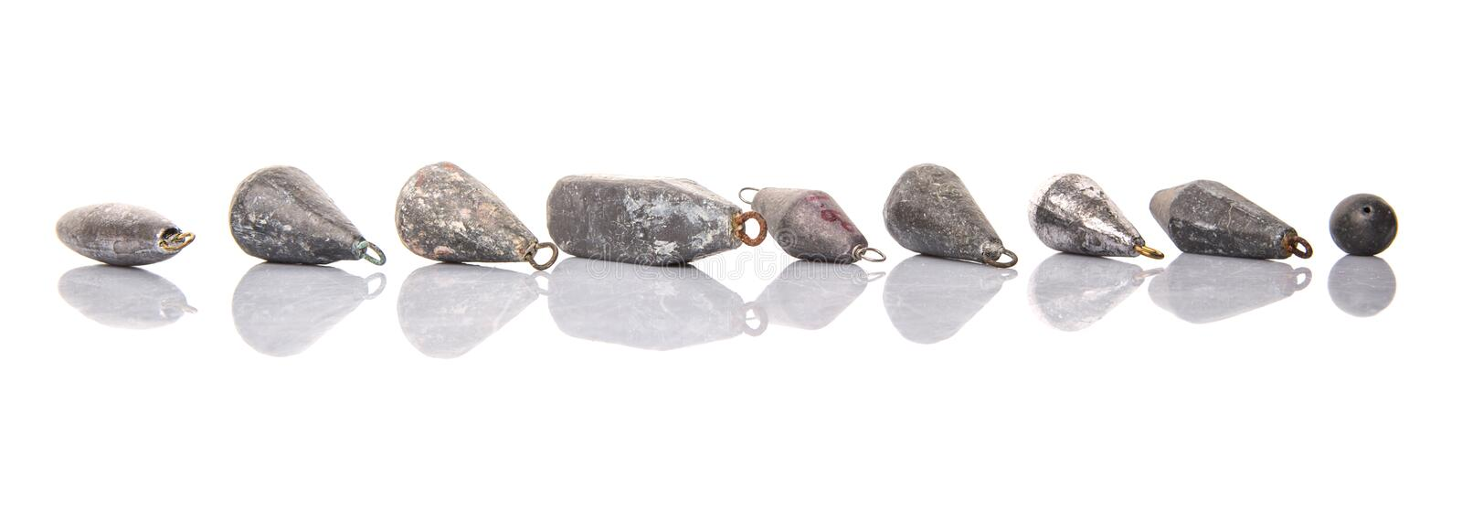 Group Of Fishing Sinker Or Knoch IV stock photography