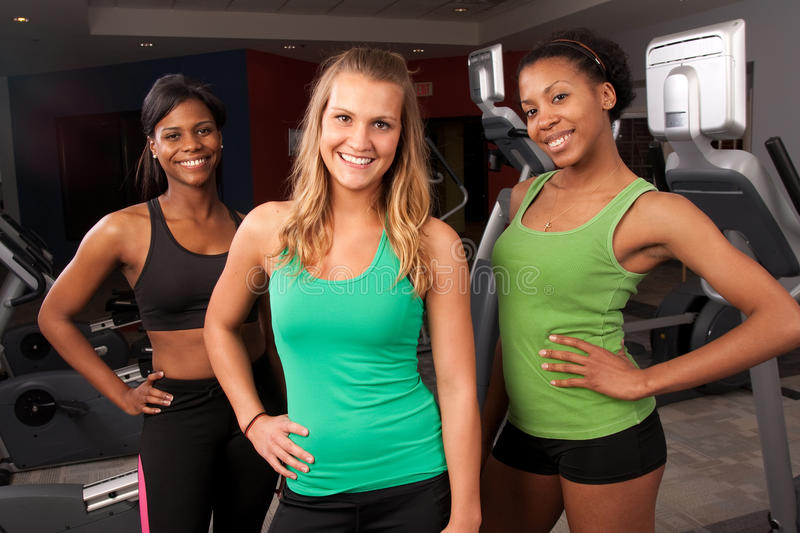 Group of fitness friends stock image