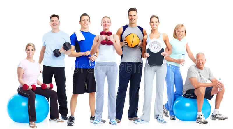 Group of fitness people. stock images