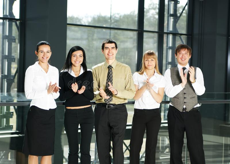 Download A Group Of Five Business Persons In An Office Stock Photo - Image of black, group: 15757084