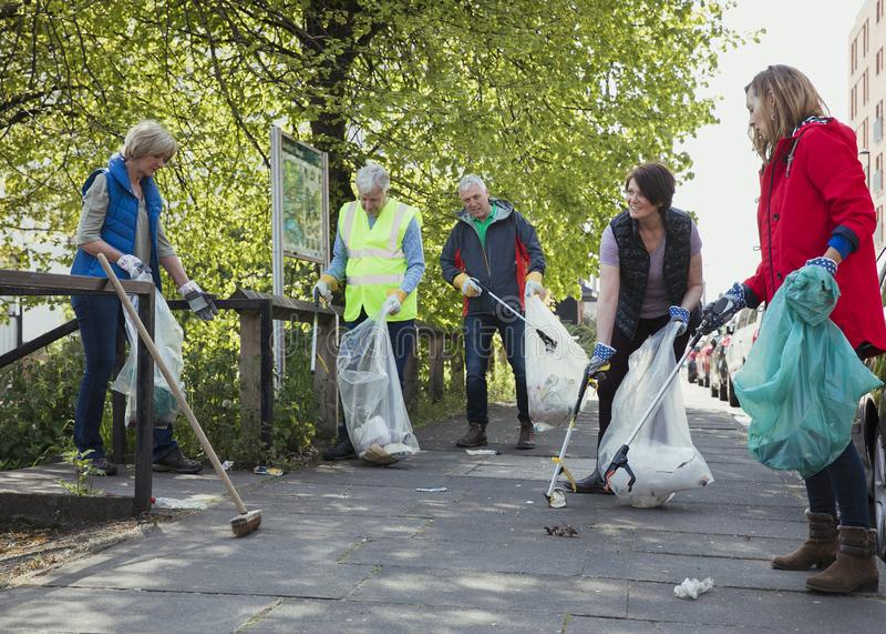 City Cleaners Volunteering stock photos