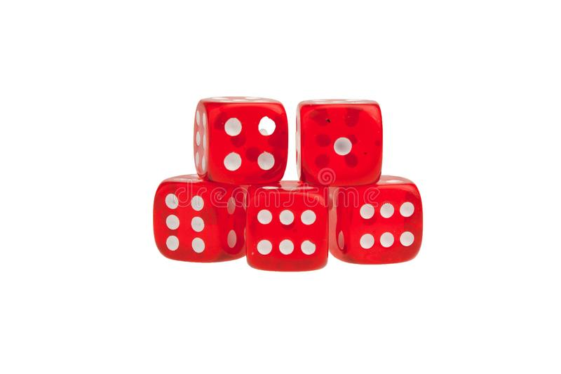 Group of red dices royalty free stock image