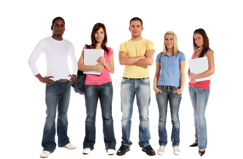 Download Group Of Five Young People Stock Image - Image: 16720901