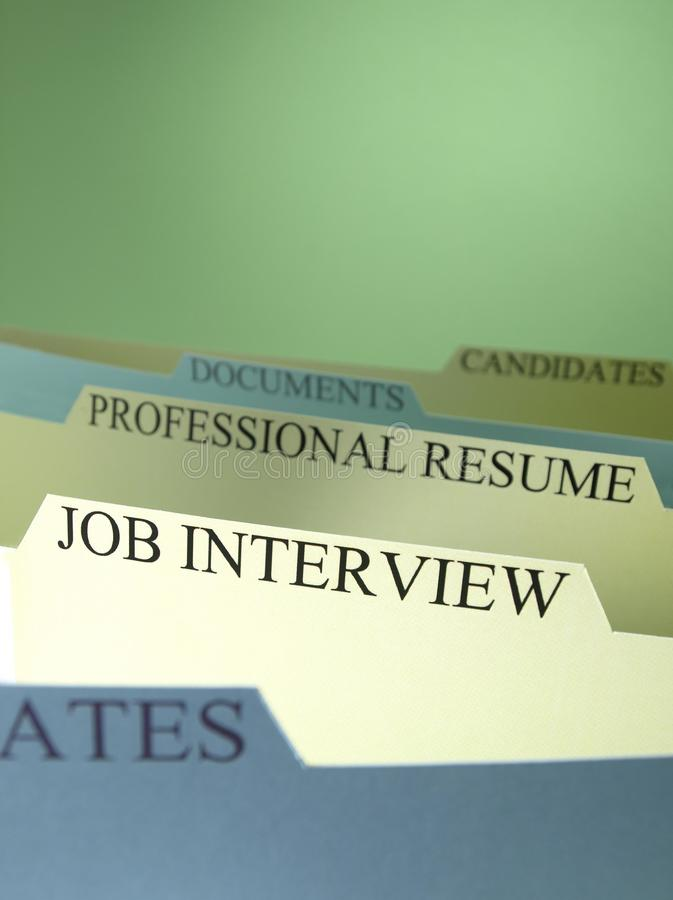 Download Employment Applications On File Stock Image - Image: 16940697